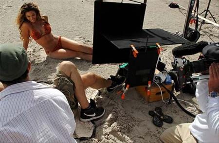 sesión de fotos de Beyonce en bikini 2
